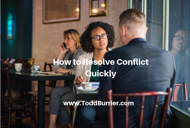 How to Quickly Resolve Conflict