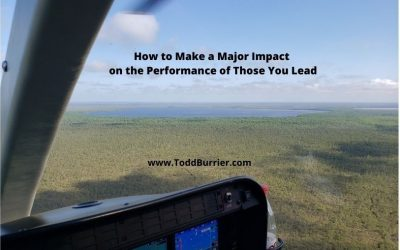 How to Make a Major Impact on the Performance of Those You Lead