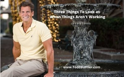 Three Things To Look at When Things Aren't Working